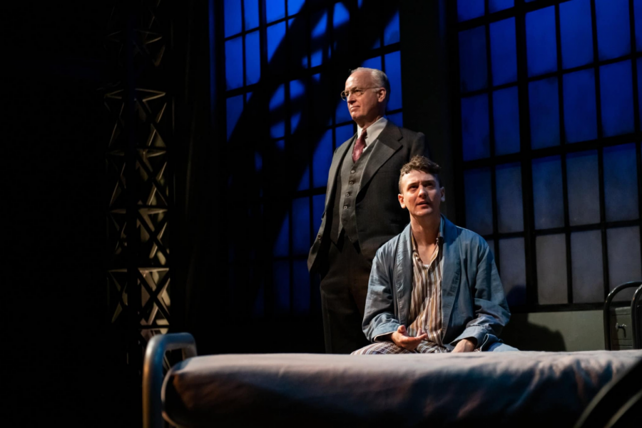 The set of Chester Bailey, beginning June 18 and ending July 3. (Photo courtesy of The Barrington Stage Company.)