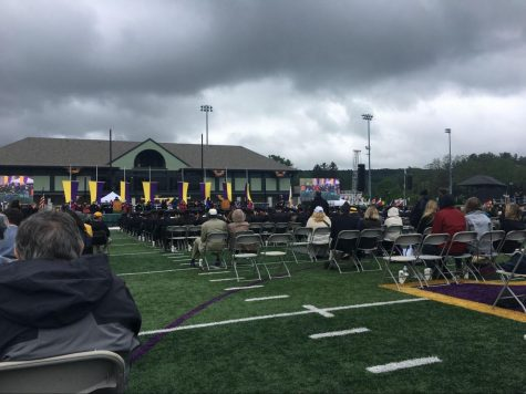 """Though the Class of 2020 still has not had an official in-person commencement, the Class of 2021 had its commencement — technically a """"senior celebration"""" — on May 31 of this year. (Photo courtesy of Allison Downing.)"""
