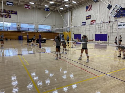 Athletes on the volleyball team must remain fully masked at all times during practices and games, both of which occur indoors. (Marit Hoyem/The Williams Record)