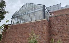 """The College's """"secret"""" greenhouse is located at the back of the Morley Science Labs and is visible from the South Science garden. (Lindsay Wang/[ITAL]The Williams Record)"""