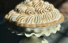 Leslie Milton's lemon meringue pie, pictured on her Instagram page @goodnightkitchen. (Photo courtesy of Leslie Milton.)