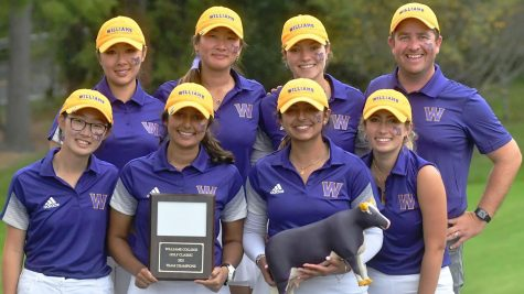 Women's golf won its home invitational after first-day hiccups, breaking the single-day invitational and course records in the process. (Photo courtesy of Sports Information.)