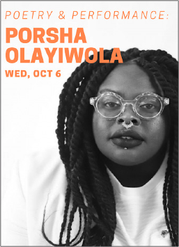 Olayiwola led students in a workshop and open mic performance. PHOTO COURTESY OF WILLIAMS COLLEGE COMMUNICATIONS.